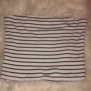 American Eagle Outfitters Tops - black and white striped tube top